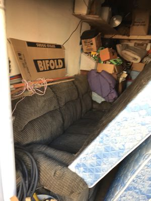 Sofa with 2 side built recliners $75 for Sale in Seattle, WA