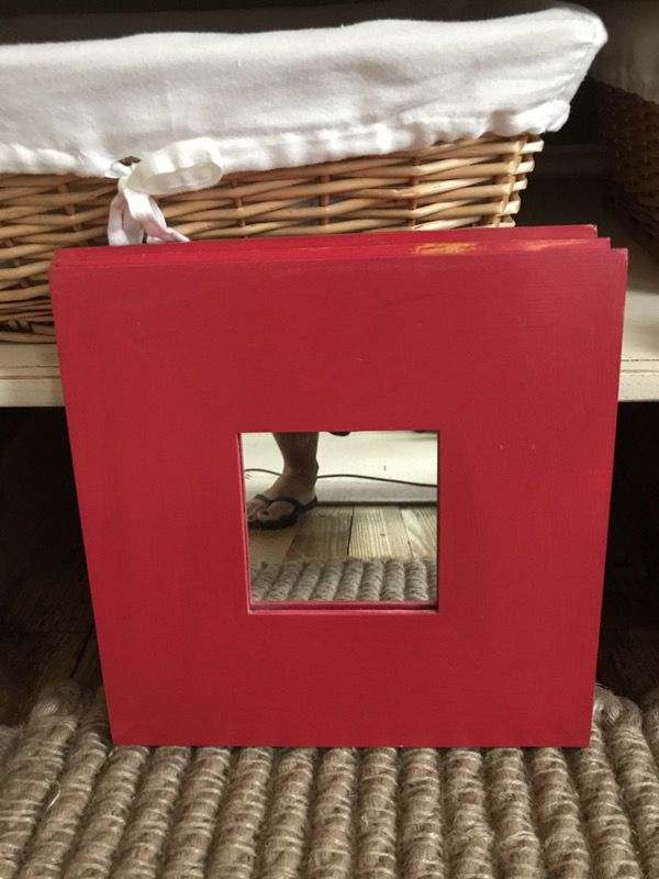 3 red mirrors from Ikea