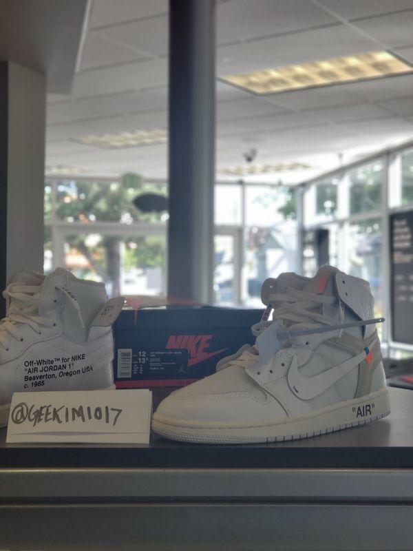 580817a3ae9 Off White x Air Jordan 1 Retro High OG 2018 for Sale in Seattle, WA ...
