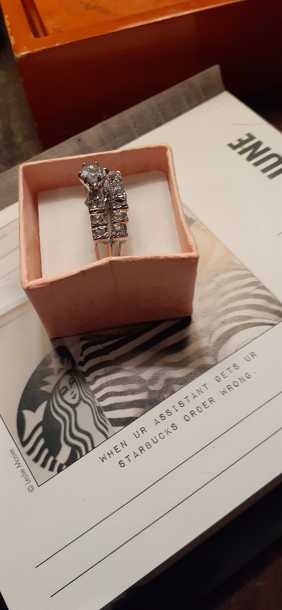 Womens wedding ring set snaps together