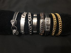 Stainless steel bracelets for Sale in Boston, MA