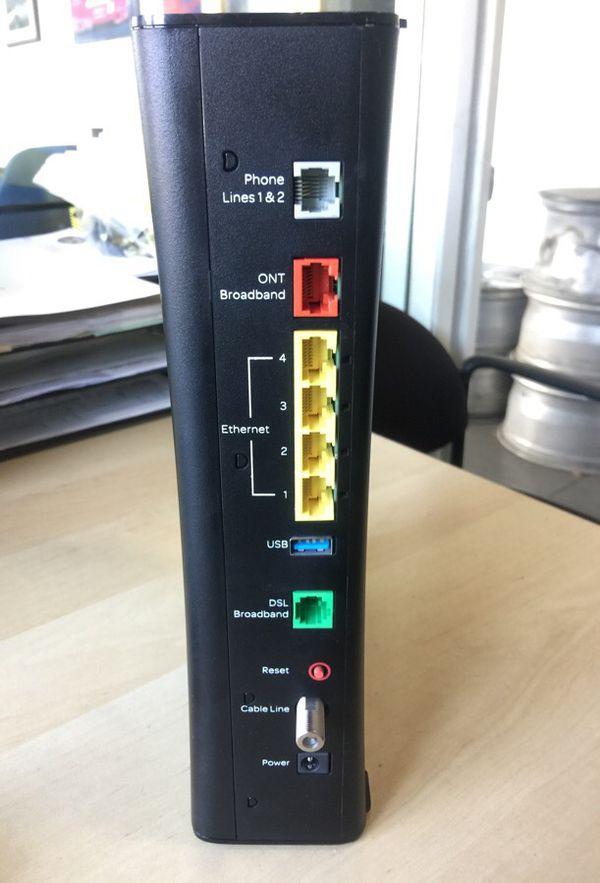 Likenew At T U Verse Pace 5268ac Gateway Internet Wireless Modem Router