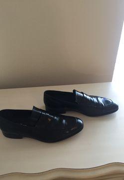 Men's black leather loafer Saks Fifth Avenue size 11 Thumbnail