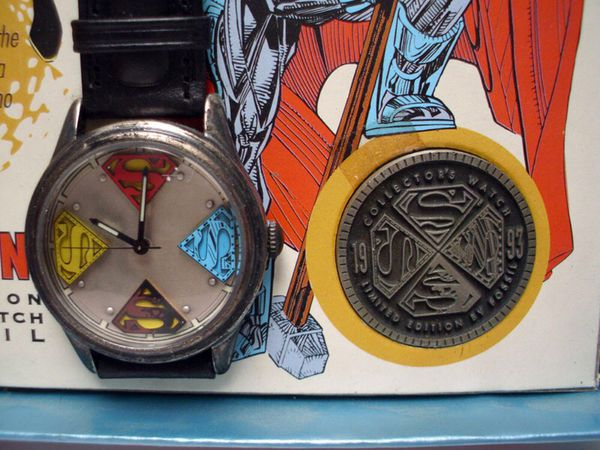 Mib 1993 fossil limited edition watch reign of the supermen open in the appcontinue to the mobile website freerunsca Choice Image