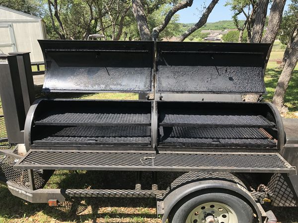 """Lone Star Grillz 24""""x48"""" BBQ Smoker + Grill Trailer Pit for Sale in Spring  Branch, TX - OfferUp"""