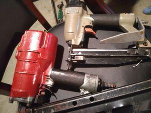 Hitachi nail gun. Porter Cable staple/Brad nail gun for Sale in Orlando, FL