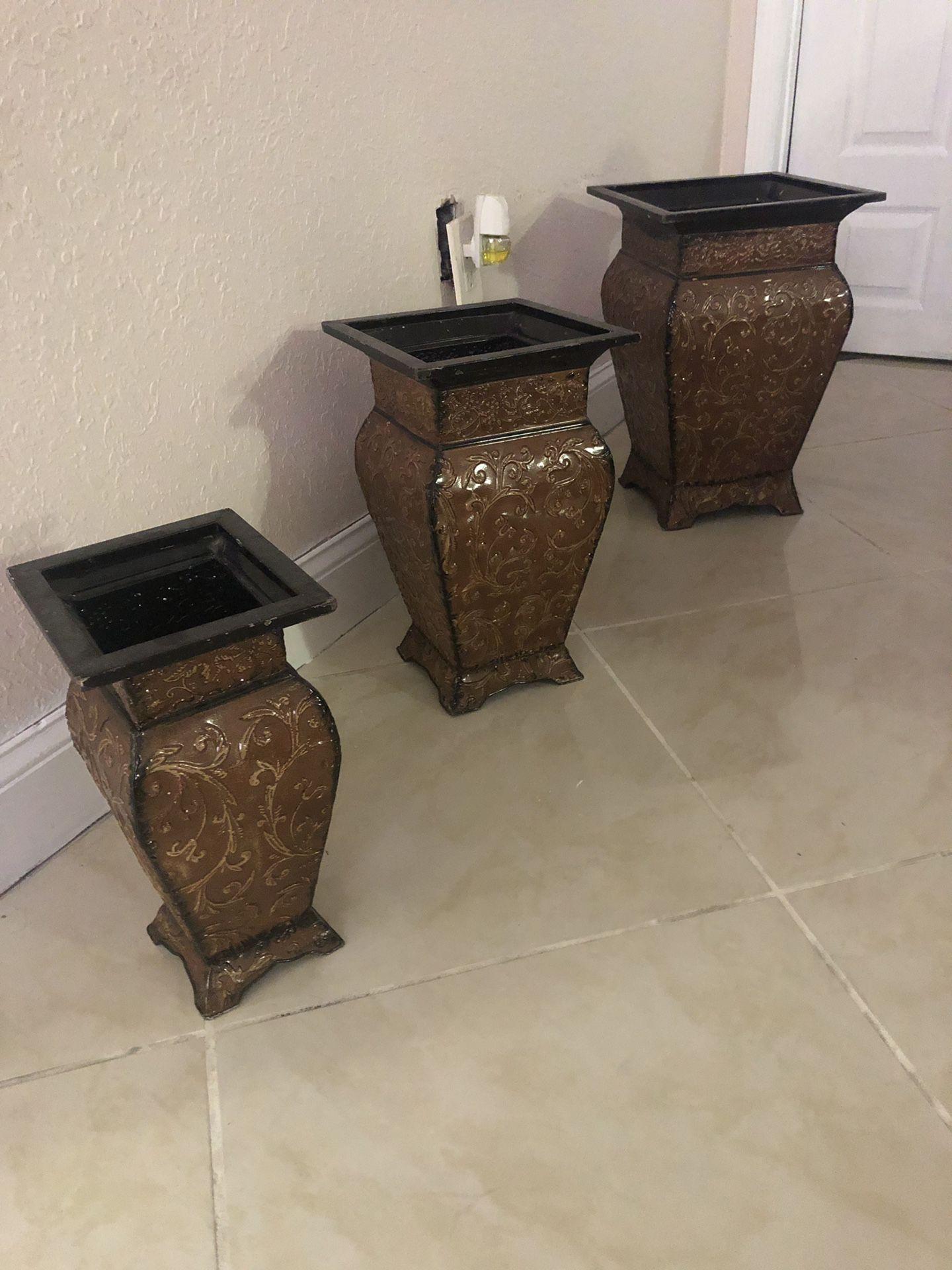 3 jarones de piso