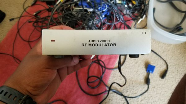 Audio Video RF Modulator And Cables 2 Dollars Equipment In Los Angeles CA