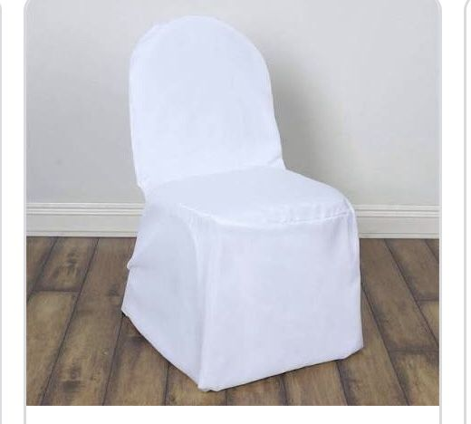 50 White Chair Covers Polyester