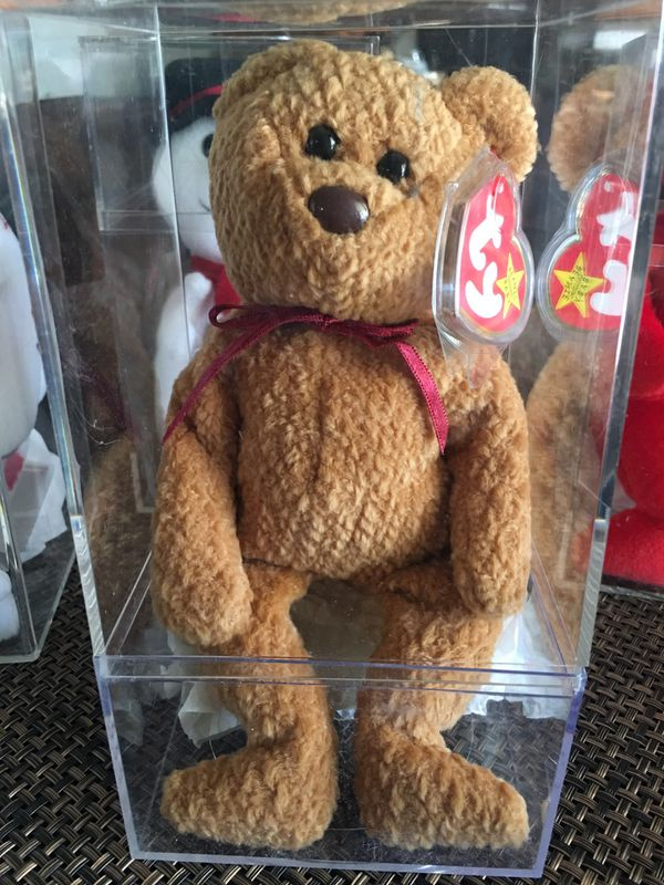 d649ed5fd03 Ty Beanie Baby Curly the Bear RETIRED and EXTREMELY RARE with ERRORS ...