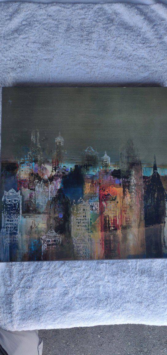 Cityscape painting