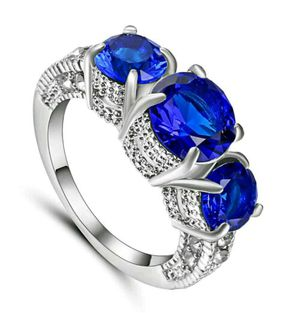 New Beautiful Sapphire, Ruby, Amethyst gemstone Ring Women's 10kt White or Yellow Gold Filled Wedding sizes 6 7 8 9 for Sale in Detroit, MI