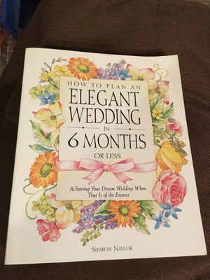 Wedding planning books - How to Plan in 6 months or less and planning a small wedding for Sale in Falls Church, VA