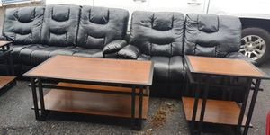 Sofa recliner with end tables for Sale in College Park, GA