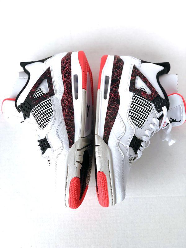 low priced f50a2 087cc 2019 Nike Air Jordan 4 Retro 10.5 Flight Nostalgia Hot Lava Crimson  308497-116