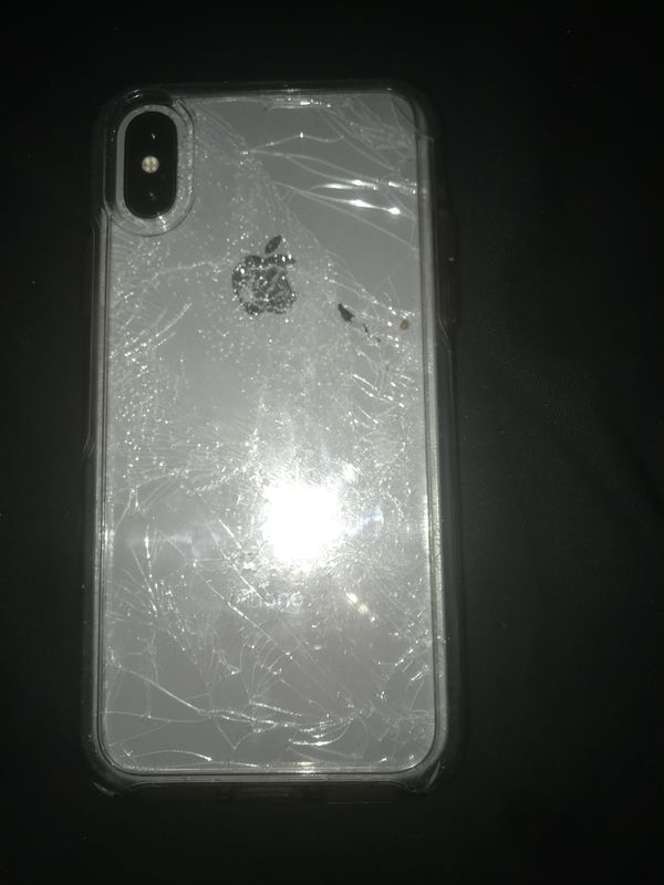 watch 0c5e0 9df6b iPhone X for sale back glass broken 500$ front screen still works ...