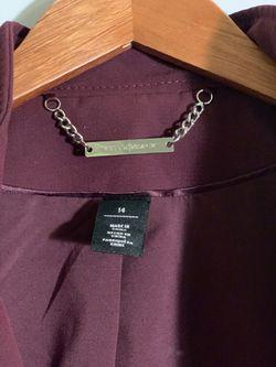 White|Black purple jacket size 14 Thumbnail