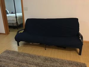 Black Futon Bed And Couch With Navy Blue Cover For In Portland Or