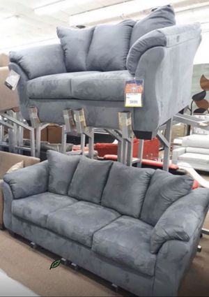 Photo Brand 🆕️ in the Box - $39 DOWN SPECIAL] Darcy Steel Living Room Set 599