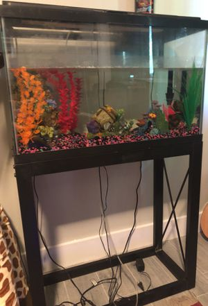 40 gallon empty fish tank with stand for Sale in Tampa, FL