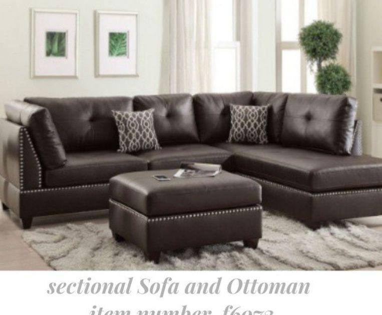 Stylish  and Modern  Sectional Sofa  and Ottoman