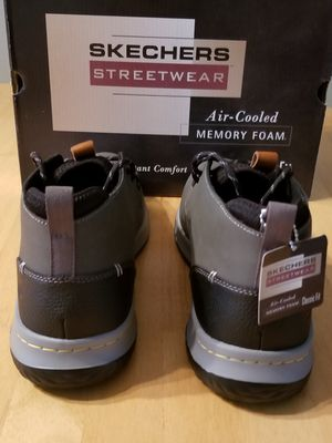 NEWBOX:Men's Streetwear Skechers, Air Cooled, Memory Foam, Classic Fit, Delson ClentonGray for Sale in Maple Valley, WA OfferUp
