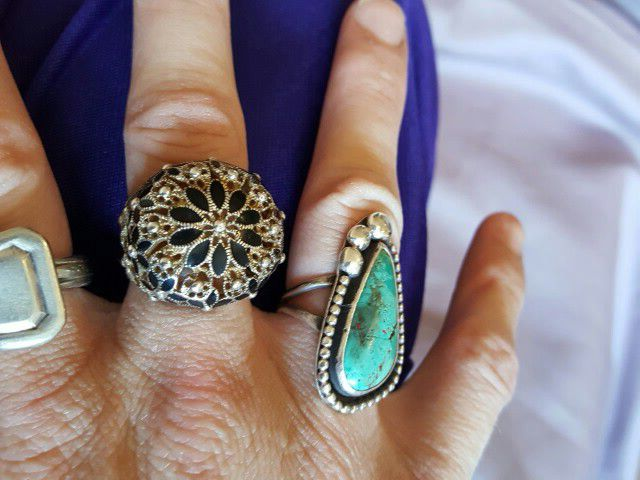 Beautiful 925 silver ring with onyx