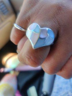 Silver Heart Ring  Thumbnail