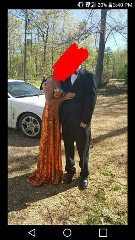 Prom dress only wore for 3 hrs for photos.