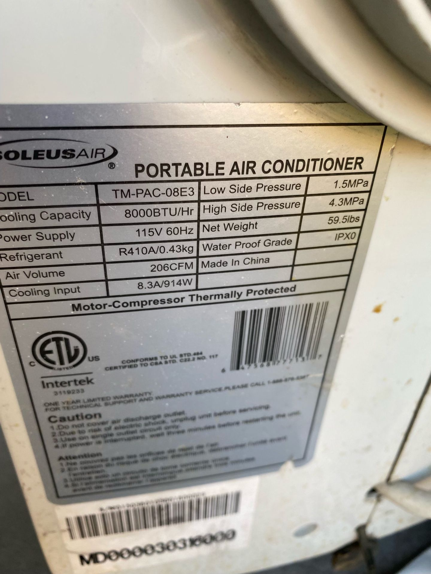 Air conditioner portable with filters