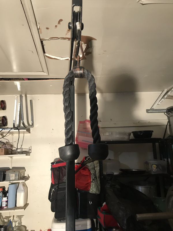 Garage gym bench and lat pull down for sale in houston tx offerup