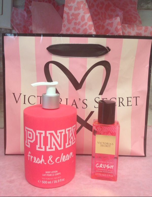 Victoria Secret PINK Body Lotion Pump Crush Perfume Mist Birthday Gift