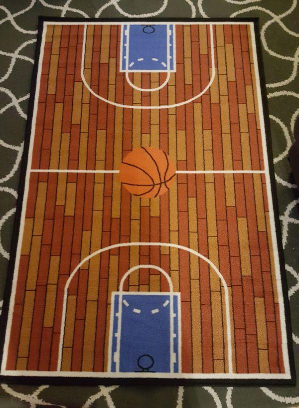 New Furnish My Place 690 Rust Basketball Ground Kids Area Rug 3 X 5