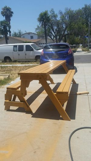 2 In 1 Picnic Bench Table 8 Foot Long For Sale Pomona CA