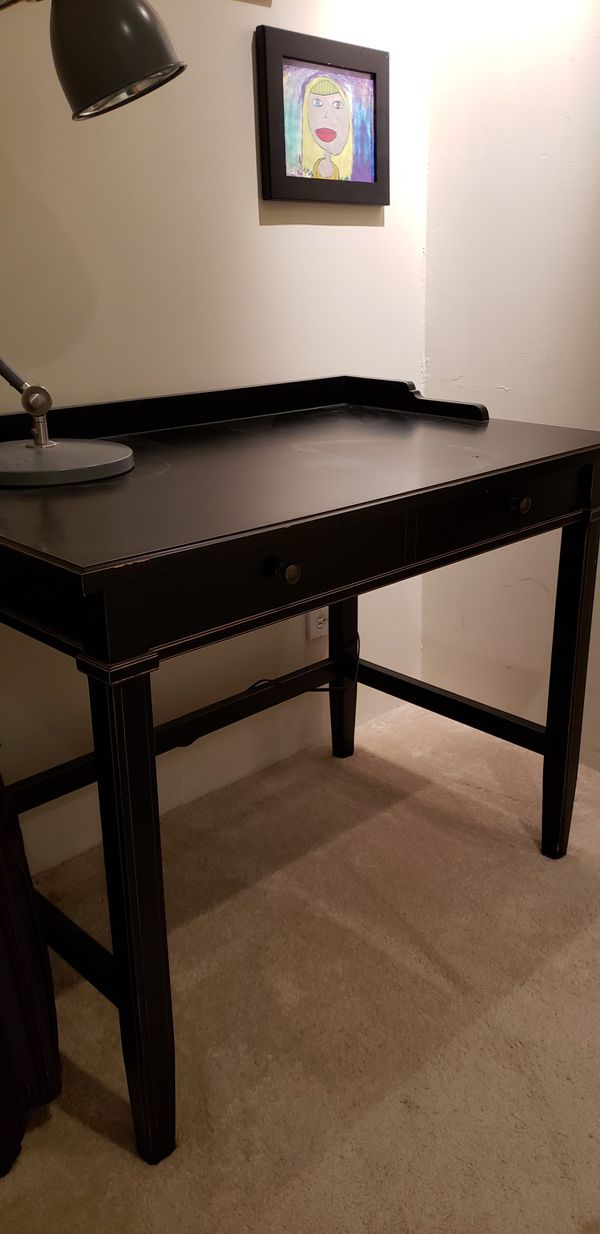 Pottery Barn Black Desk With Distressed Edges For In Niles Il Offerup
