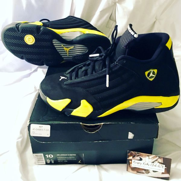 2a785b42a2bb06 Jordan Retro 14 Thunder Men s 10 for Sale in Austin