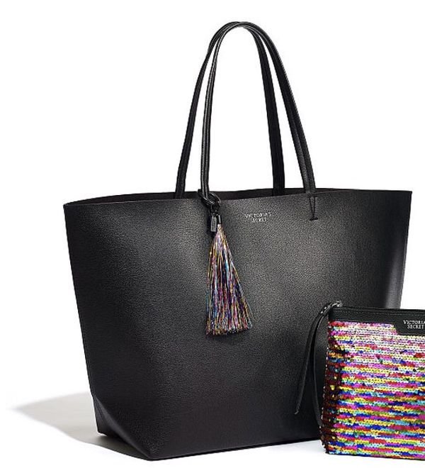 49b7910f4 Victoria's Secret Limited Edition Extra Large Black Tote Bag for ...