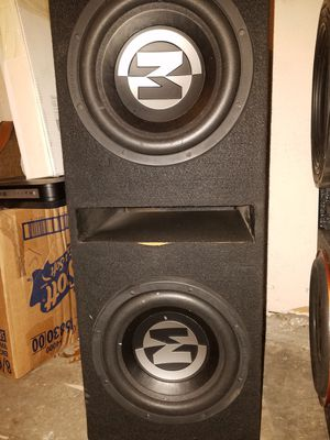 """10"""" Memphis subs in ported box.$150 obo for Sale in Mansfield, TX"""