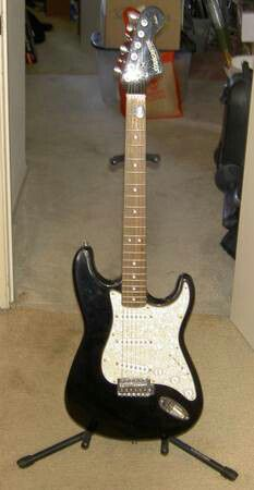 Fender Starcaster Strat Electric Guitar & Stand for Sale in Denver, CO