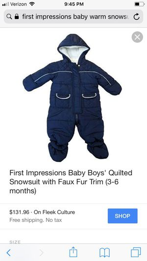 fed2d089c676 First impression snowsuit for Sale in Virginia Beach