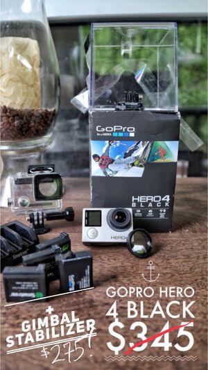 GoPro Hero 4 Black + Feiyu WG03 Gimbal Stabilizer for Sale in Fort Washington, MD