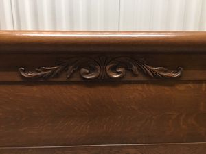 Bed Frame. Turn Of Century Oak Carved Rolled Bed for Sale in Tampa, FL