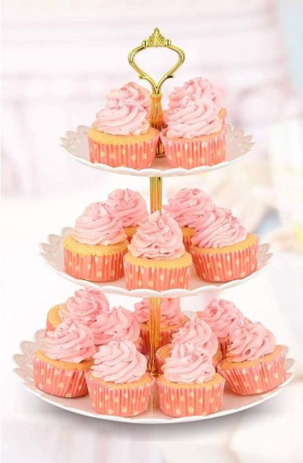 Wow Everyone With This 3-Tier Cupcake/Dessert Stand For Any Occasion!