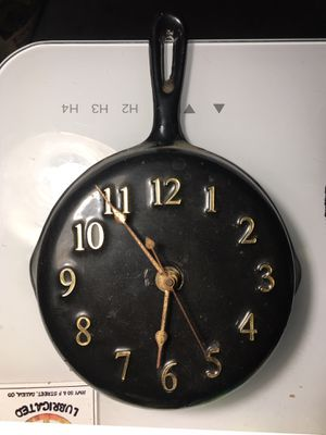 Rare Antique Cast Iron Wall Clock for Sale in City of Industry, CA