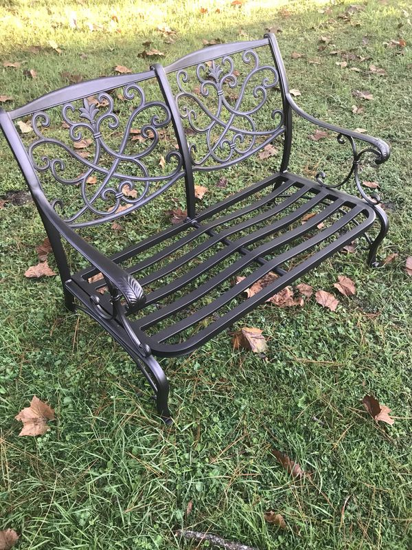 Folwell Cast Aluminum patio love seat frame only