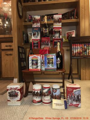 """PRICE GREATLY REDUCED**WIFE WANTS GONE!! """"Anheiser Bush, Budweiser Clydesdale Holiday Stein Collectibles"""" for Sale in Winter Springs, FL"""