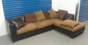 2 piece sectional sofa microfiber ultrasuede for Sale in Takoma Park, MD