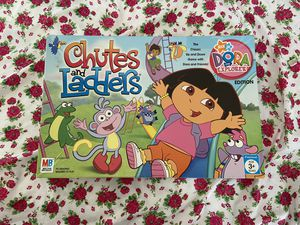 Photo Chutes and ladders board game Dora the explorer kids toys