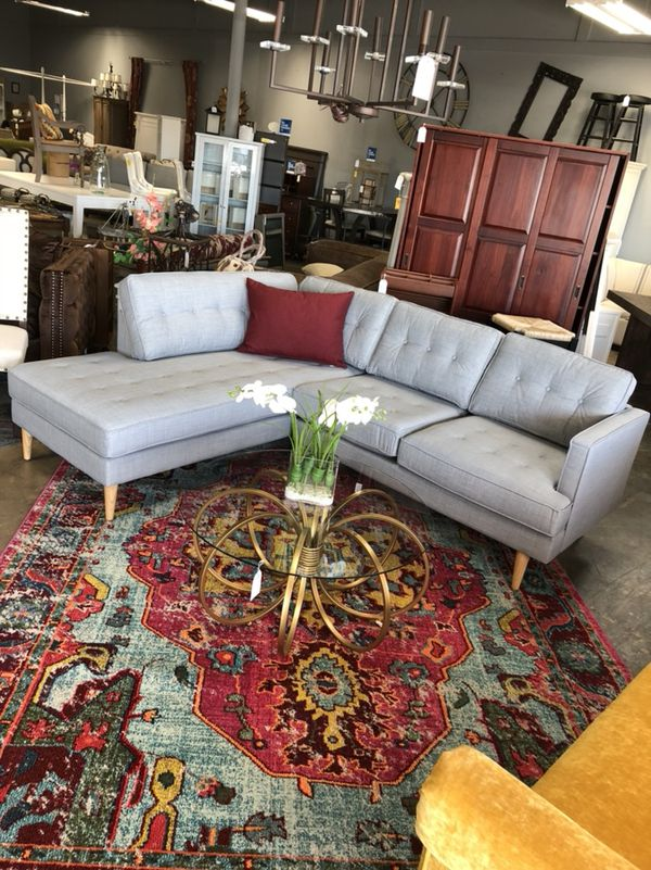 Apel Woven Sectional W Chaise Dove Gray For Sale In Southport In