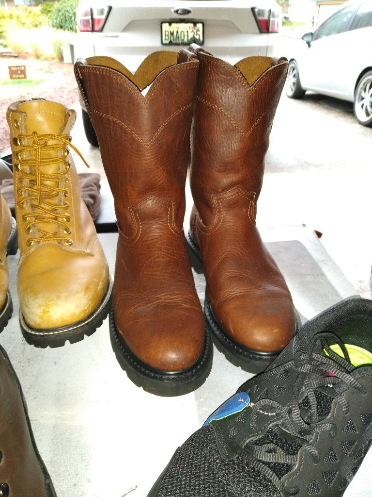 Four Pairs Of Boots Shoes